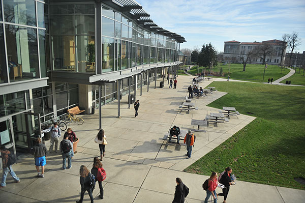 Exterior image of Pryzbyla student center